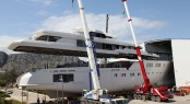 Sunrise motor yacht Project 601 Hull &amp; Superstructure Integration