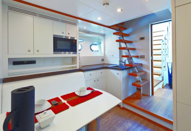 Superyacht Diamond Galley