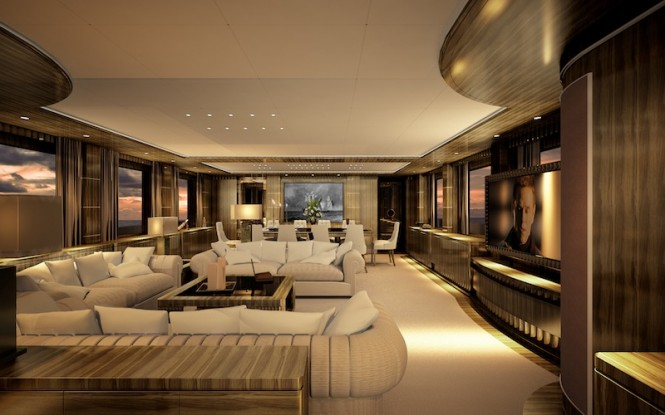 Superyacht OKKO interior rendering