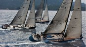 Superyachts competing on Day 1 of the Loro Piana Superyacht Regatta 2012 Credit Carlo Borlenghi
