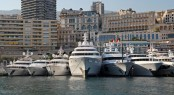 The Rendezvous in Monaco 2012 with 10 amazing superyachts on display Credit Thierry Ameller