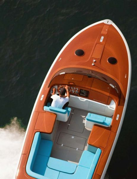 The Riva Aquariva yacht by Marc Newson - view from above Photo: Riva/Ventura