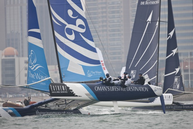 Extreme Sailing Series 2012, ESS, EX40, Multihull, Qingdao, China Credit: Lloyd Images