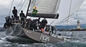 The crew of 2011 RORC Yacht of the Year & Rolex Fastnet Race winner, Niklas Zennström's JV 72, Rán wear Henri Lloyd - Credit- Rolex:Carlo Borlenghi