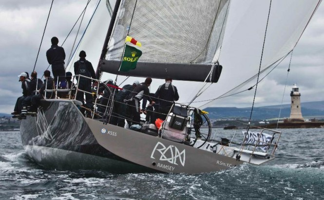 The crew of 2011 RORC Yacht of the Year &amp; Rolex Fastnet Race winner, Niklas Zennstrm's JV 72, Rn wear Henri Lloyd - Credit- Rolex:Carlo Borlenghi