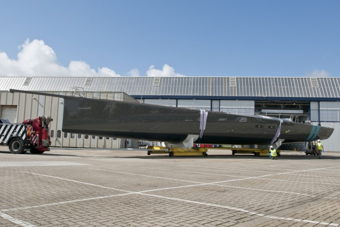 The launch of the WallyCento superyacht Hamilton