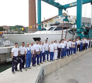 Ferretti Group launched the first motor yacht Ferretti 870
