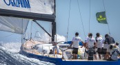 Swan 60 sailing yacht Bronenosec competing in the Giraglia Rolex Cup 2012 Photo by Rolex/Kurt Arrigo