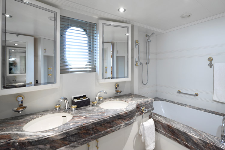 Yacht LA MASCARADE Bathroom Luxury Yacht Charter Superyacht