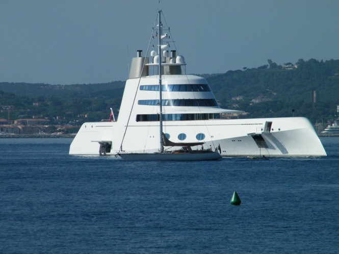 119m B+V yacht A in France - St Tropez photographed by David Z Hart