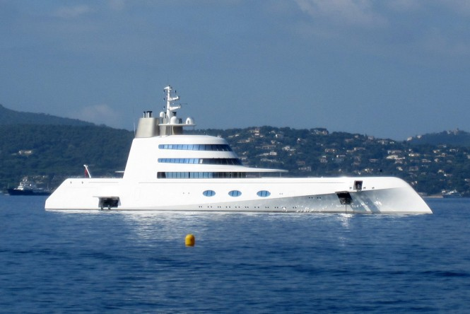 119m mega yacht A by Blohm and Voss - Photo credit to Sacha Suzanne Hart
