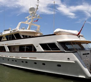 Superyachts Slojo, Endless Summer and Boo Too at Dennis Conner's North Cove
