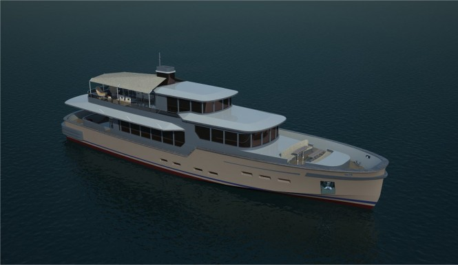 32m superyacht Castle designed by Baris Yurek