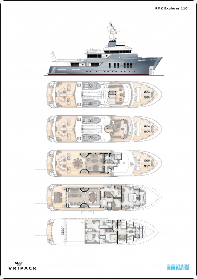 33m Vripack 110 superyacht by RMK Marine and Vripack Design