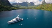 45m expedition charter yacht Big Fish - Tahiti - August 2010 - Photo by Tom McKenna