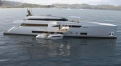 45m luxury motor yacht Wider 150 with a 33' Wider yacht tender