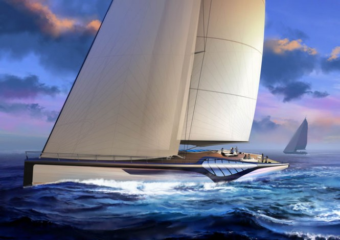 46m sailing yacht EXO concept by Claydon Reeves and Dykstra Naval Architects