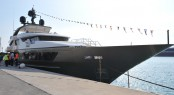 46m luxury yacht Achilles at launch