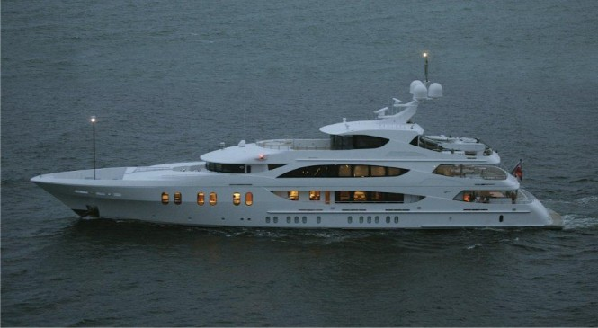 57m Motor Yacht LADY LINDA Night Running - Photo Courtesy of Alex Pfotenhauer
