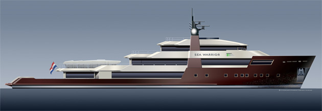 60m luxury superyacht SEA WARRIOR