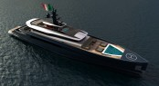 60m megayacht Impervia - view from above