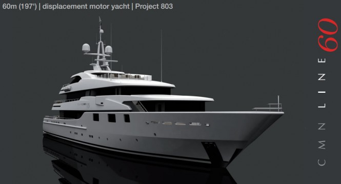 60m motor yacht Project 803 by CMN Yachts