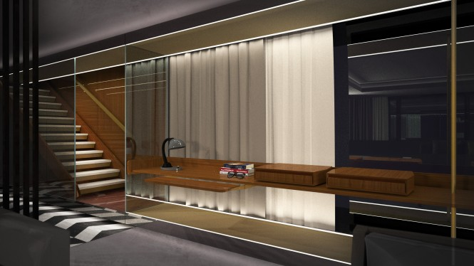 60m superyacht Impervia - Interior by Valerio Romondia