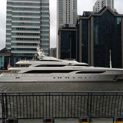 65m Benetti luxury superyacht Seanna in London