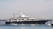 75m charter yacht Leander in Cowes hosting HM The Queen