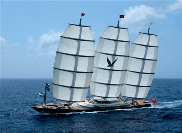 88m megayacht Maltese Falcon by Perini Navi