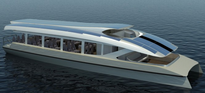 A 20m catamaran yacht - shuttle version