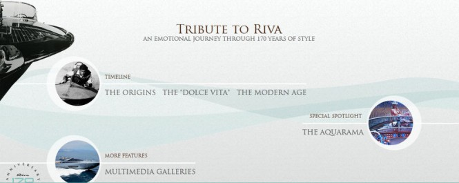 A new website by Riva Yachts celebrating its 170th anniversary