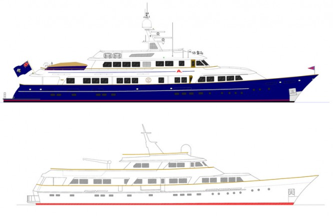 Motor yacht A2 (ex Masquerade of Sole) - Before and After her refit
