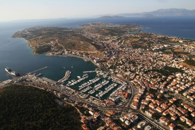 Aerial view of Cesme Marina