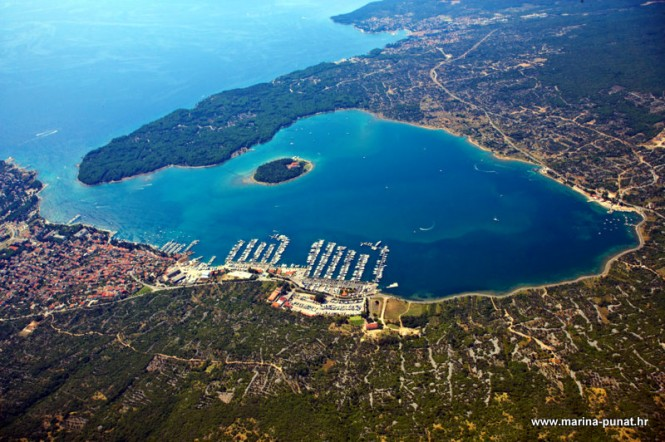 Aerial view of the Punat Marina