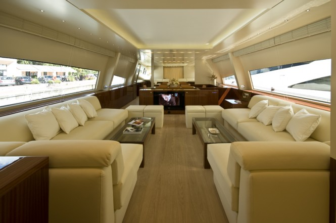 Amer 92 superyacht - Main Saloon