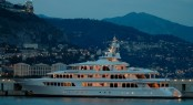 Another beautiful Feadship - the 71.6m superyacht UTOPIA at night
