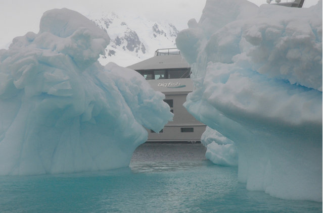 Big Fish superyacht - Antarctica - January 2011 - Photo by Aquos Yachts
