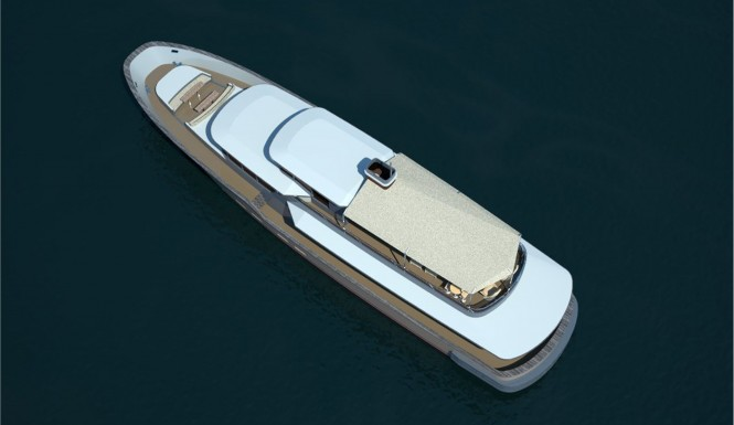Castle superyacht - view from above