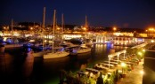 Cesme Marina by night
