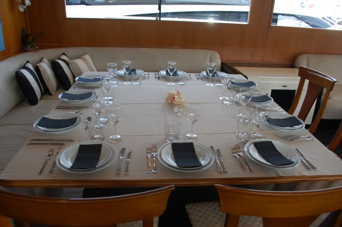 Charter Yacht Lady Tatiana of London - Dining