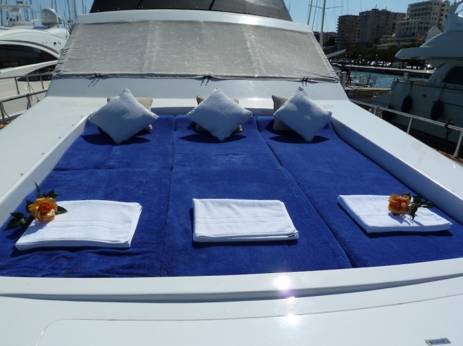 Charter Yacht Lady Tatiana of London - fore deck sun bathing