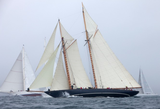 Competing superyachts in the 3rd Pendennis Cup - Racing Day 1