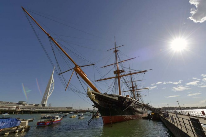 Dinner and sea shanties aboard Portsmouth's HMS Warrior