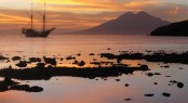 Enchanting world of Indonesia - Silolona superyacht at sunset