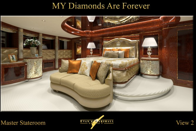 FB253 superyacht Diamonds Are Forever - Master suite