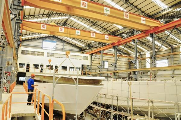 Horizon's luxury yacht manufacturing facility