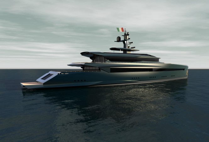 Impervia superyacht - side view