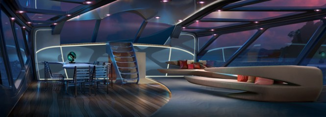 Interior aboard EXO superyacht