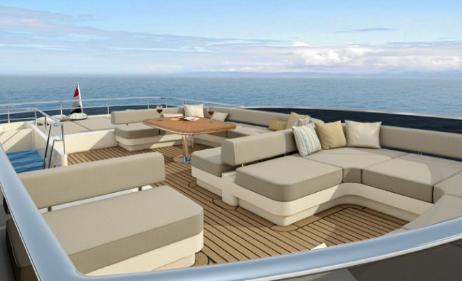 Luxurious exterior aboard the 22.2m motor yacht P1026
